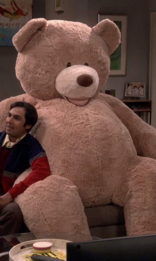 Kunal Nayyar with Hugfun Huge Jumbo Teddy Bear Plush in The Big Bang Theory