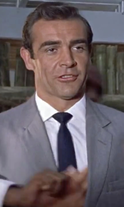 Sean Connery with Armani Collezioni Solid Silk Tie in Dr. No