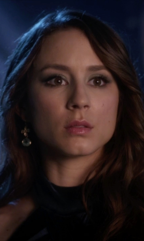 Troian Bellisario with Sophia & Chloe Cross Earrings in Pretty Little Liars
