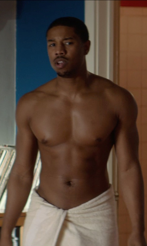 Michael B. Jordan with Kassatex Bamboo Rayon Bath Sheet in That Awkward Moment