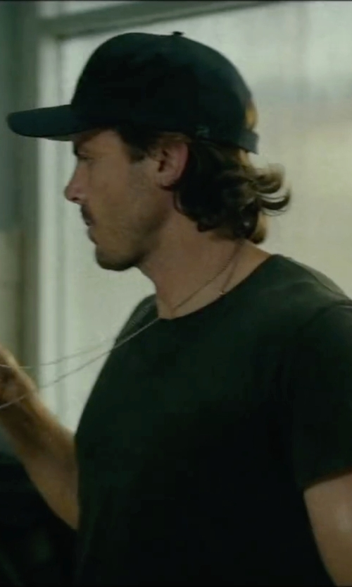 Casey Affleck with True Religion Brand Jeans Felt Patch Baseball Cap in Triple 9