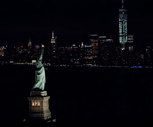 Unknown Actor with Statue of Liberty New York City, New York in Nerve