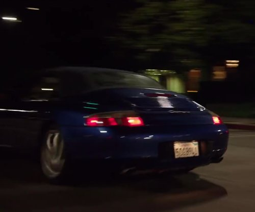 Jon Hamm with Porsche 911 Carrera Blue in Million Dollar Arm