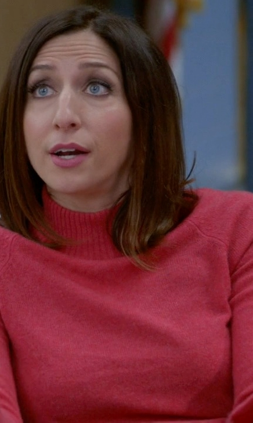 Chelsea Peretti with ExOfficio Irresistible Dolce Mockneck Sweater in Brooklyn Nine-Nine