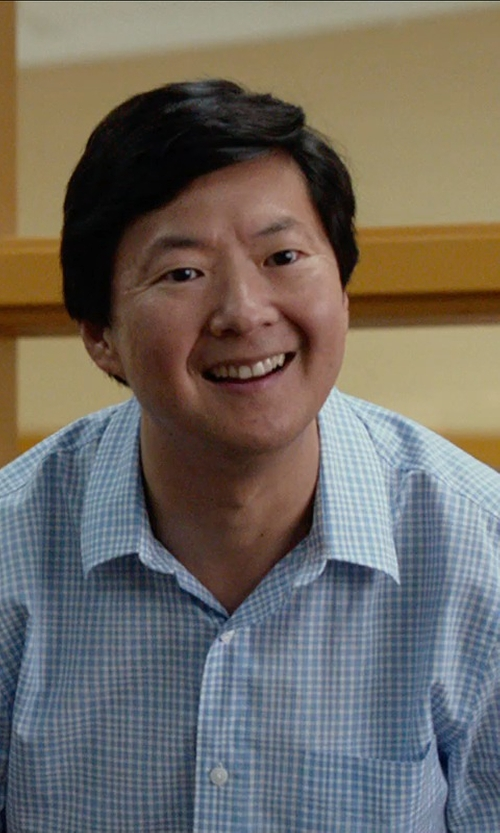 Ken Jeong with Banana Republic Slim-Fit Non-Iron Short-Sleeve Tattersall Shirt in The DUFF