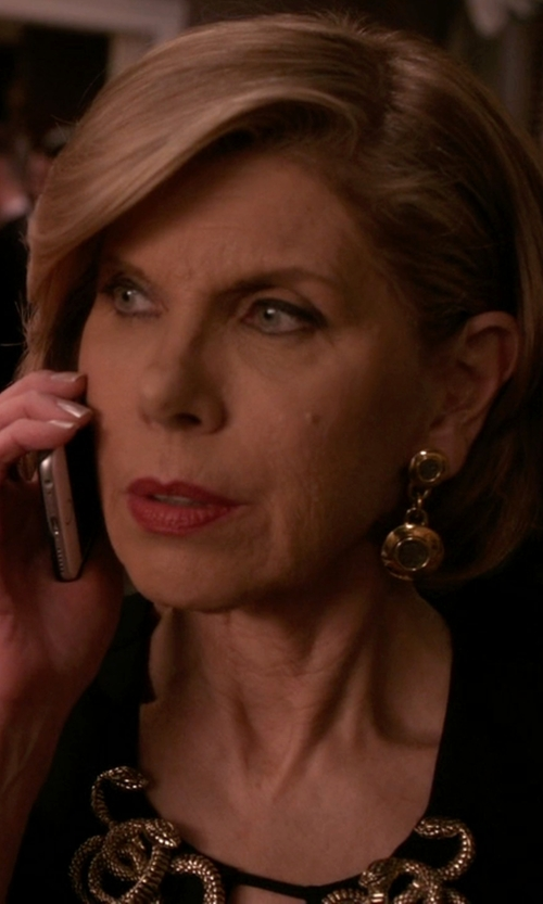 Christine Baranski with John Hardy Double Drop Earrings in The Good Wife