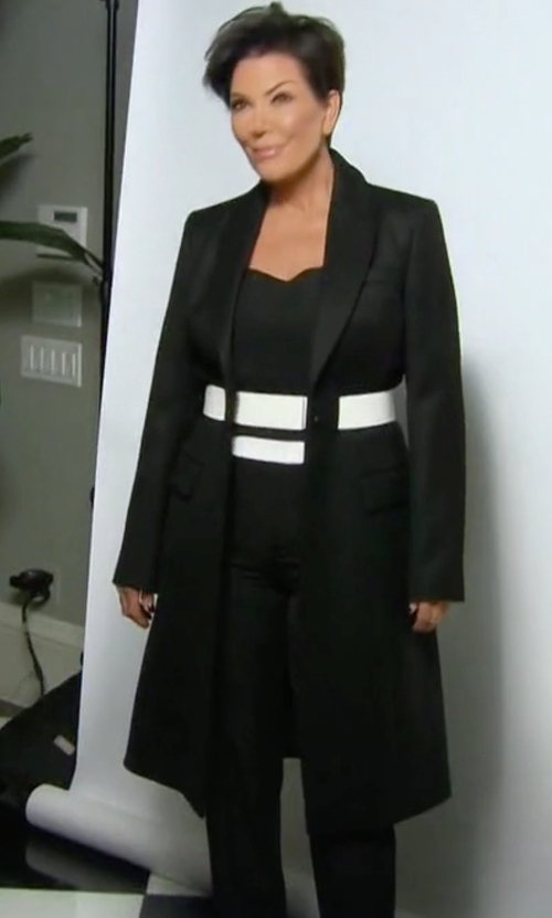 Kris Jenner with Alexander Wang Shawl-Collar Coat in Keeping Up With The Kardashians