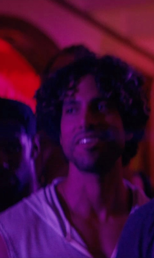 Adam Rodriguez with American Rag Solid Hoodie Vest in Magic Mike XXL