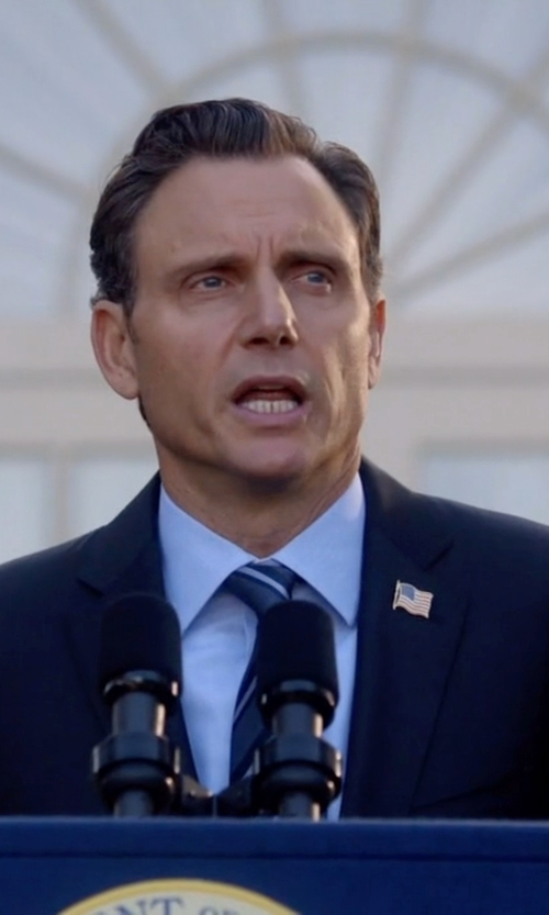 Tony Goldwyn with Hart Schaffner Marx 'New York' Classic Fit Wool Suit in Scandal