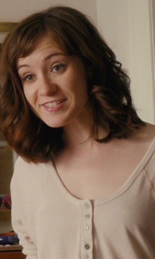 Noël Wells with Karen Scott Long-Sleeve Henley Cotton Top in Master of None
