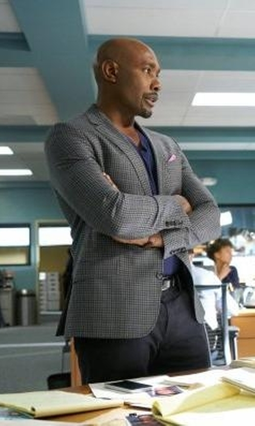 Morris Chestnut with DKNY Druce Modern Fit Blazer in Rosewood