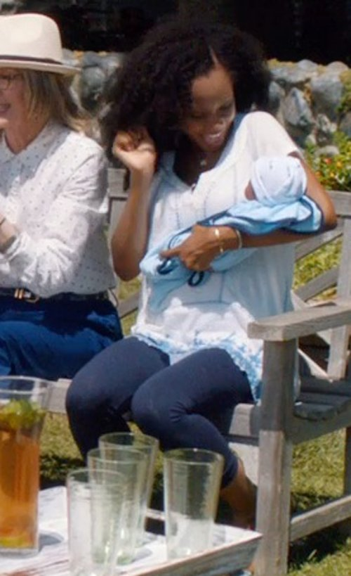 Yaya DaCosta with LC Lauren Conrad Solid Leggings in And So It Goes