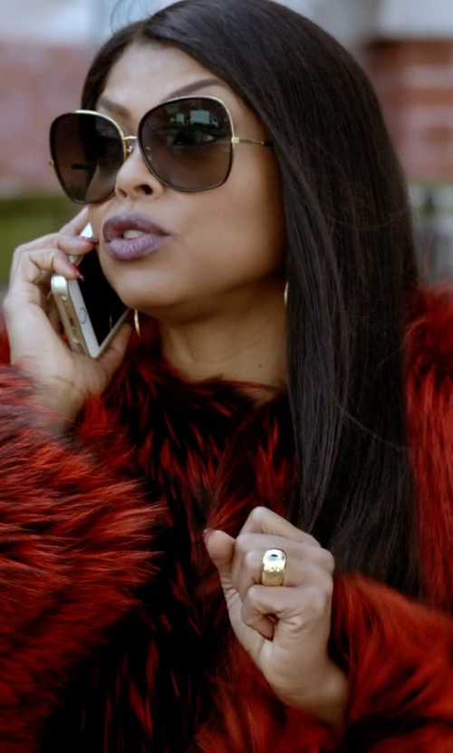 Taraji P. Henson with Jennifer Fisher Large ID Ring in Empire