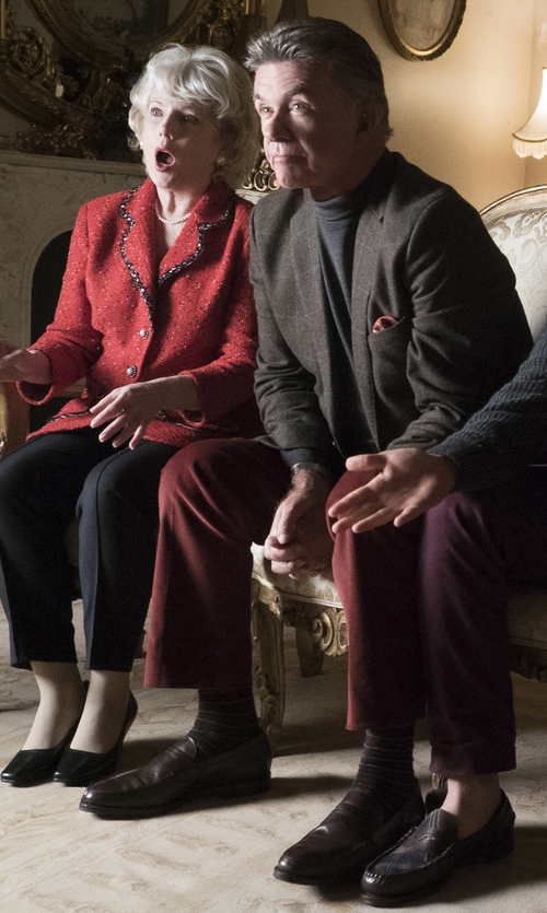 Alan Thicke with Santoni 'Turner' Leather Penny Loafer in Scream Queens