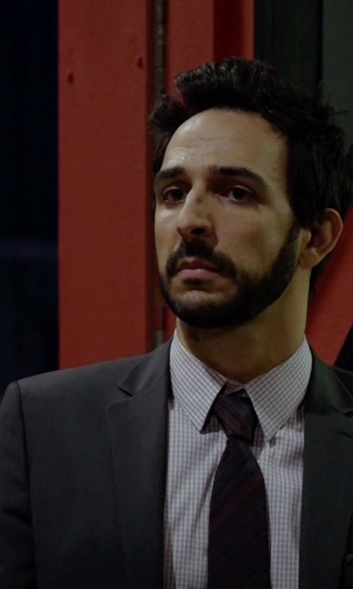 Amir Arison with Burberry London Two Piece Suit in The Blacklist