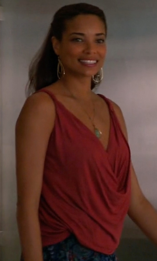 Rochelle Aytes with BCBGeneration Surplice Strappy Top in Mistresses