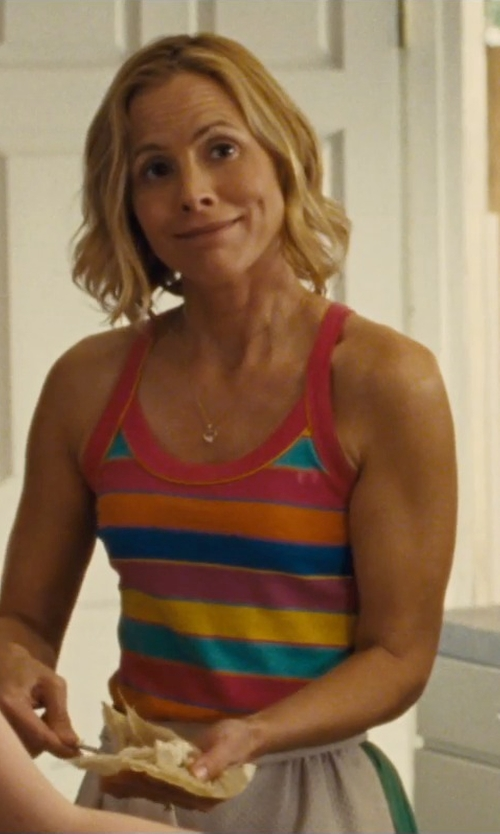 Maria Bello with Michael Stars Silk Stripe Tank Top in McFarland, USA