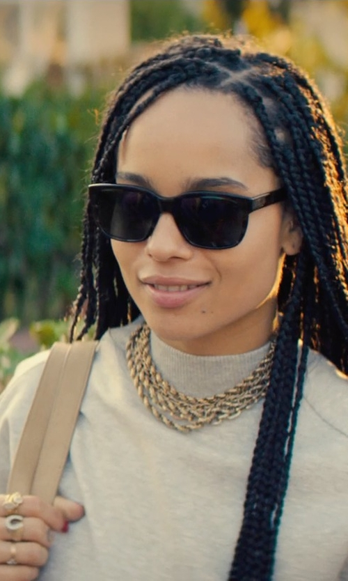 Zoë Kravitz with Sabrina Silver Diamond Horseshoe Ring in Dope