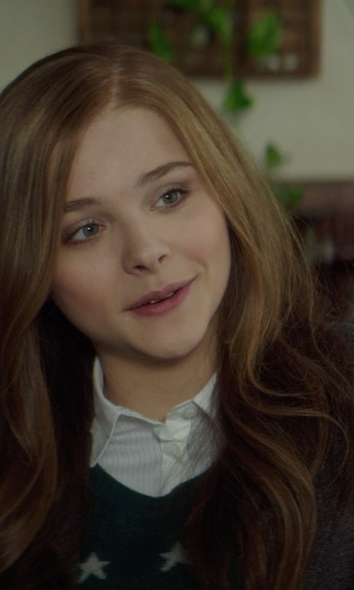Chloë Grace Moretz with Tommy Hilfiger Button Down High Low Shirt in If I Stay