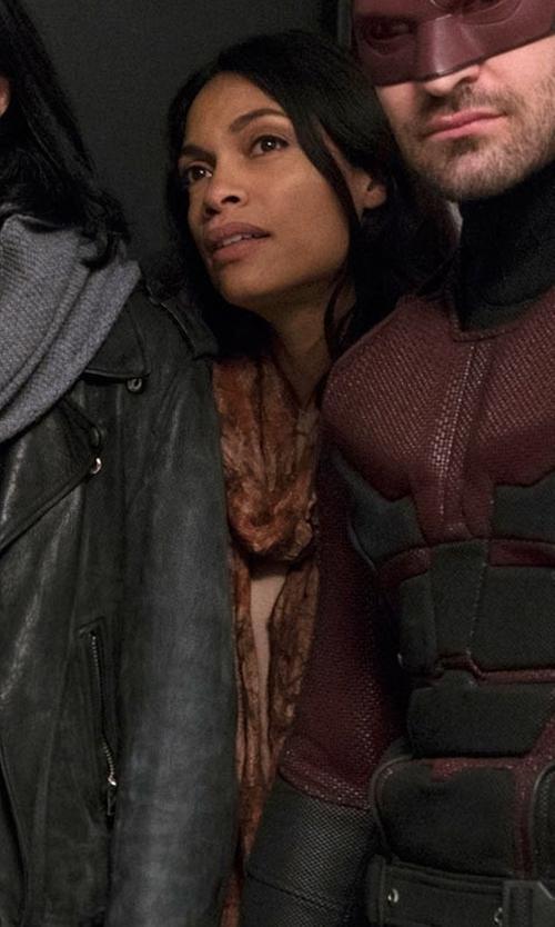 Rosario Dawson with La Fiorentina Stripe Scarf in Marvel's The Defenders