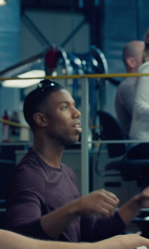 Michael B. Jordan with Under Armour Storm Polarized Sunglasses in Fantastic Four