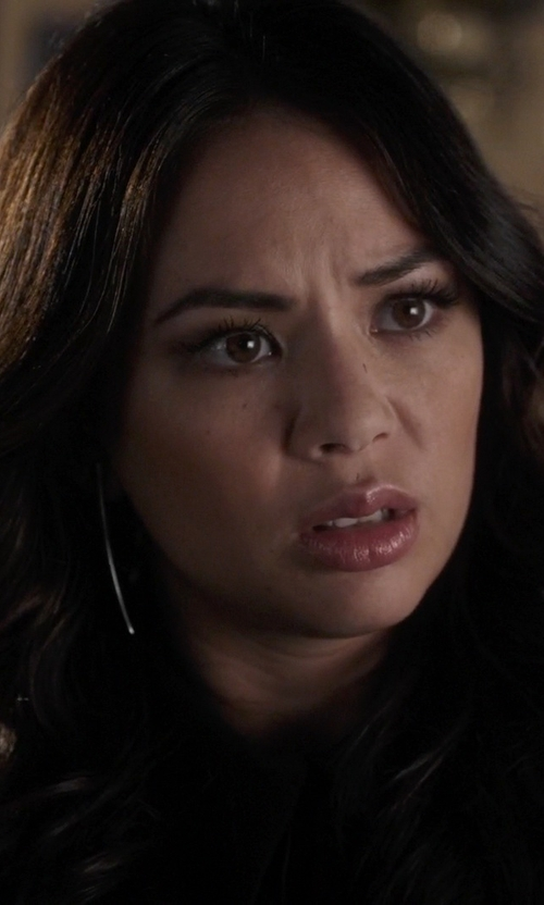 Janel Parrish with 17 Street Thin Bar Earring in Pretty Little Liars