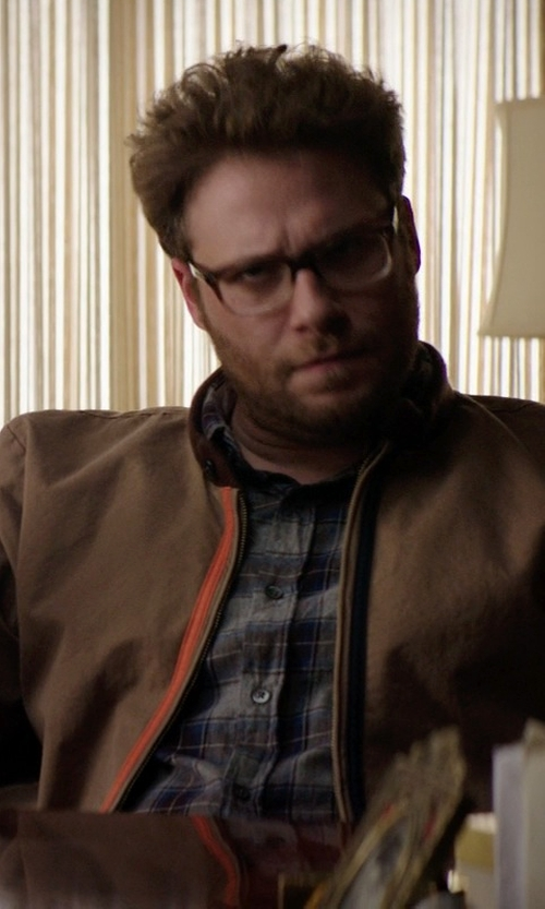 Seth Rogen with Alex Mill Plaid Shirt in Neighbors