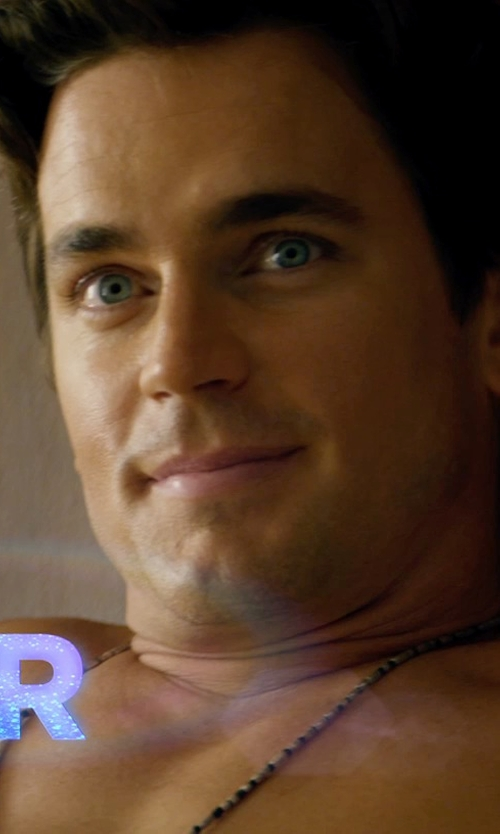 Matt Bomer with Beauniq Organic Stone Pendant Beaded Chain Necklace in Magic Mike XXL