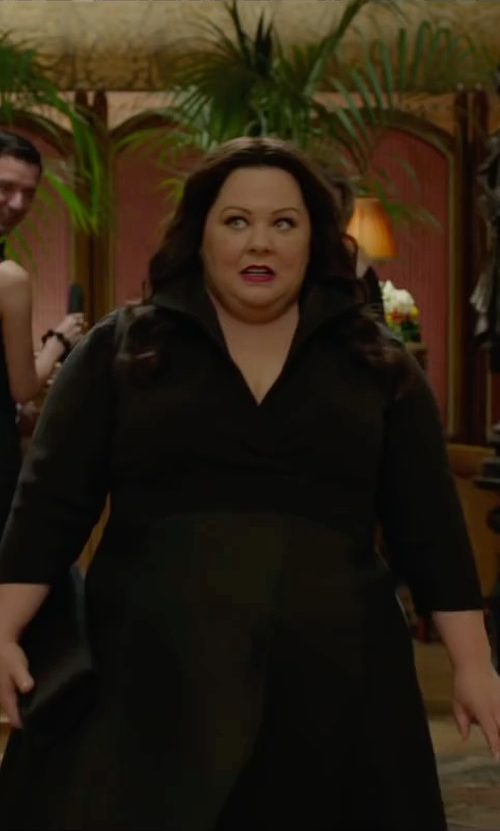Melissa McCarthy with Thierry Mugler Vintage Over-Sized Collar Dress in Spy