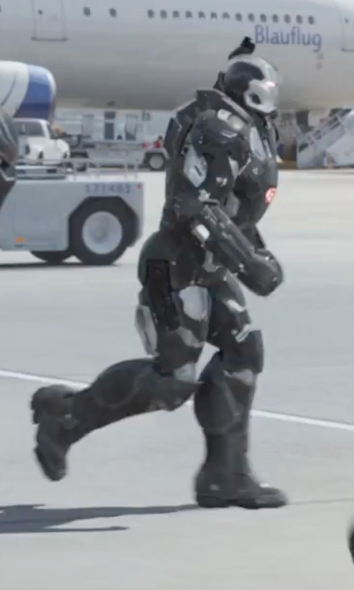 Don Cheadle with Judianna Makovsky (Costume Designer) Custom Made War Machine Suit in Captain America: Civil War