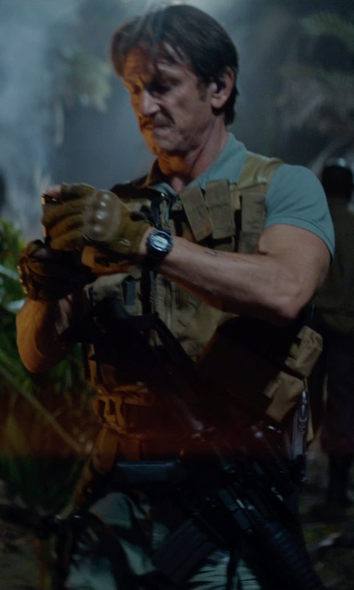 Sean Penn with Casio Men's Ws210h-1av Watch in The Gunman