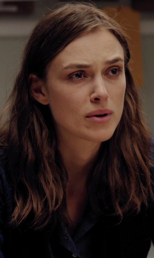 Keira Knightley with Equipment Sullivan Cashmere Cardigan in Laggies