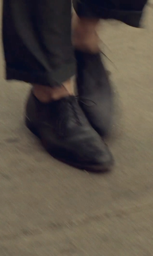 Adam Driver with Boss Hugo Boss Leather Lace-Up Oxford Shoes in While We're Young