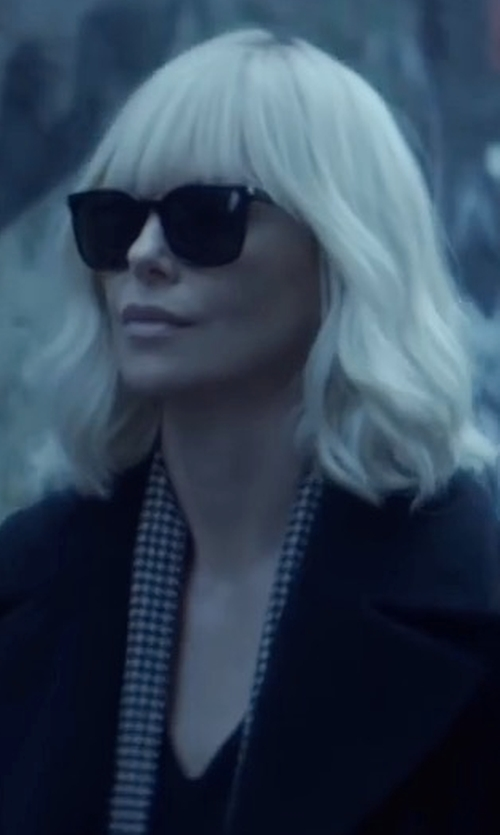 Charlize Theron with Rebecca Taylor Taylor Dress in Atomic Blonde