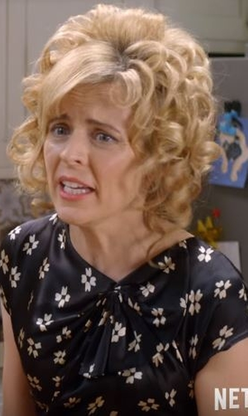 Maria Bamford with List Floral Blouse in Lady Dynamite