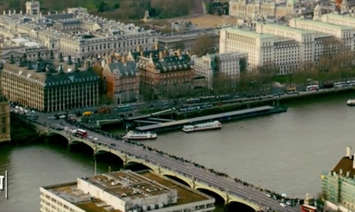 Unknown Actor with Westminster Bridge London, United Kingdom in Survivor