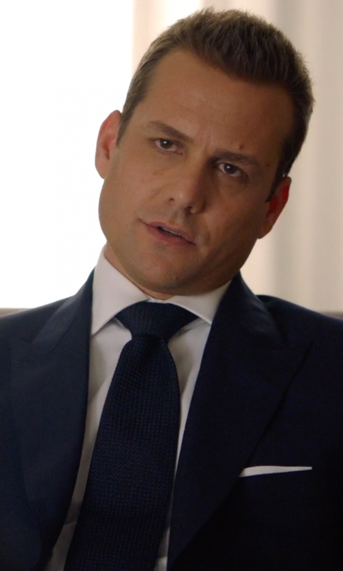 Gabriel Macht with Tom Ford Striped Knit Tie in Suits