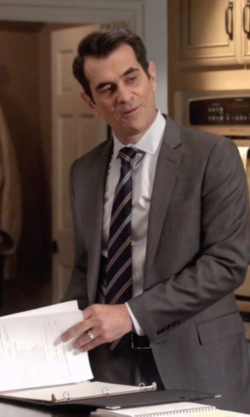 Ty Burrell with Vince Camuto Slim-Fit Wool Suit in Modern Family