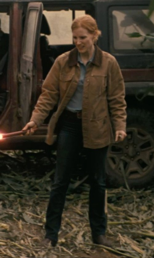 Jessica Chastain with Blank Denim Skinny Jeans in Interstellar