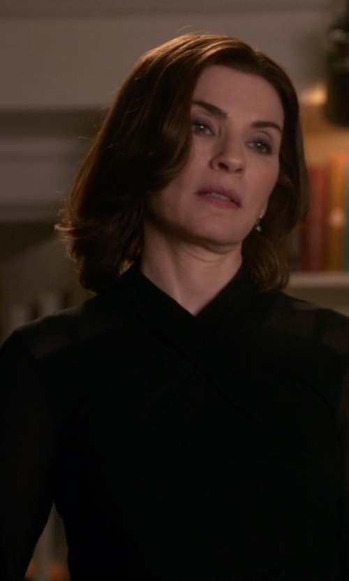 Julianna Margulies with Burberry London Silk Blouse in The Good Wife