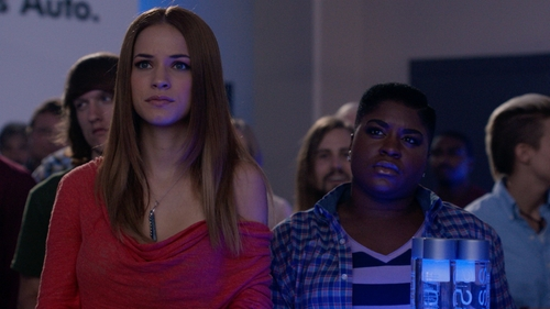 Alexis Knapp with Karen Kane Inspiration Point Pave Pendant Necklace in Pitch Perfect 2