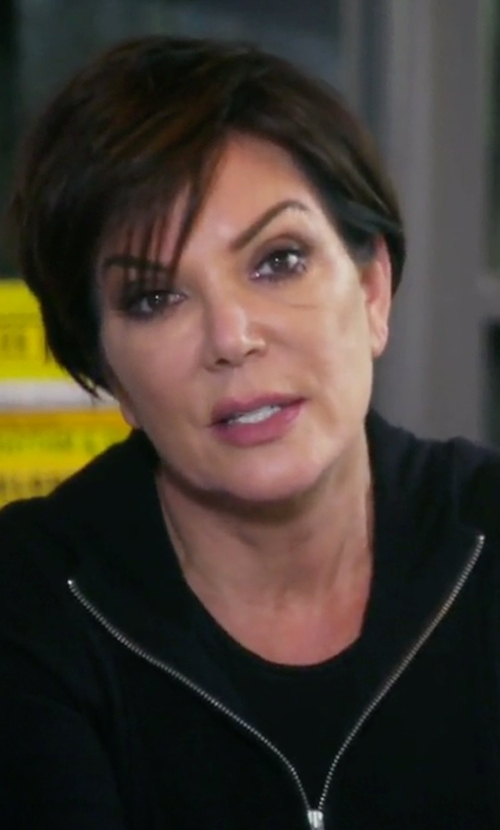 Kris Jenner with Armani Exchange Zip Hoodie in Keeping Up With The Kardashians