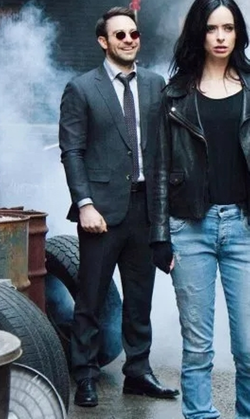 Charlie Cox with Johnston & Murphy Branning Cap Toe Derby Shoes in Marvel's The Defenders