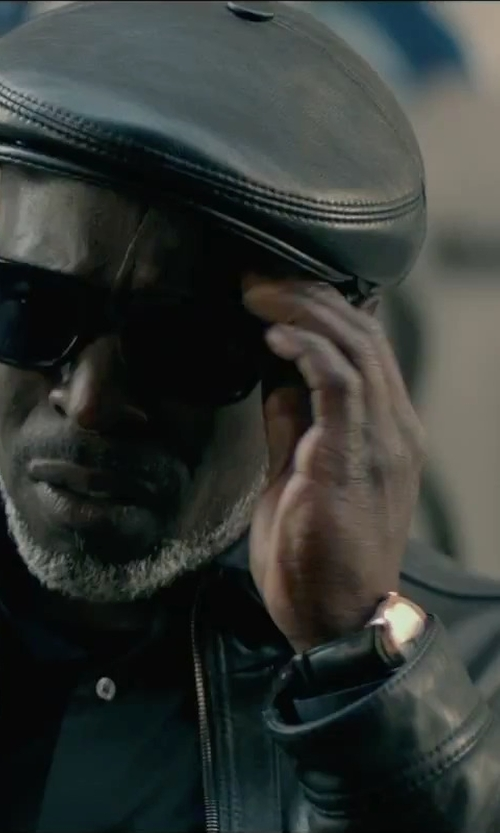 "Michael Kenneth Williams with Versace ""Apollo"" Rose Gold Ion-Plated Stainless Steel Casual Watch in The Gambler"