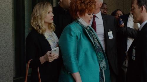 Kristen Bell with Iro Shavani Fringe-Trimmed Jacket in The Boss