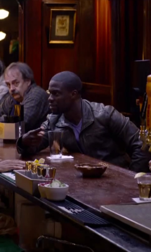 Kevin Hart with Remy Leather 'Lite' Lambskin Leather Jacket in About Last Night