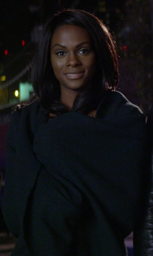 Tika Sumpter with Ralph Lauren Seville King Bed Blanket in Ride Along