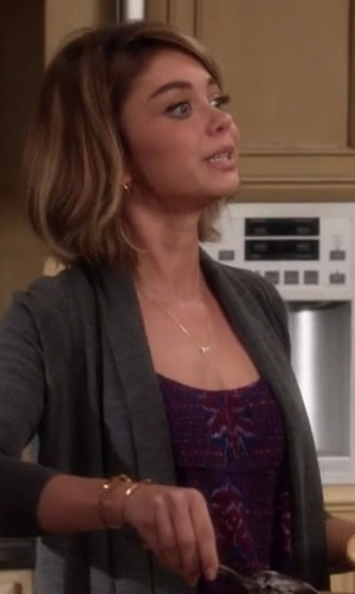 Sarah Hyland with Free People The Dew Drop Printed Tank Top in Modern Family