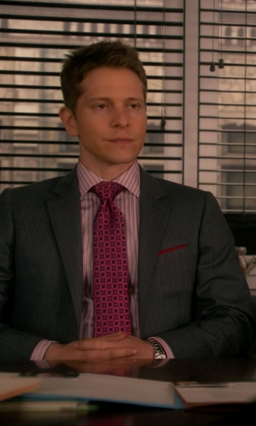 Matt Czuchry with Dolce & Gabbana Two Piece Suit in The Good Wife