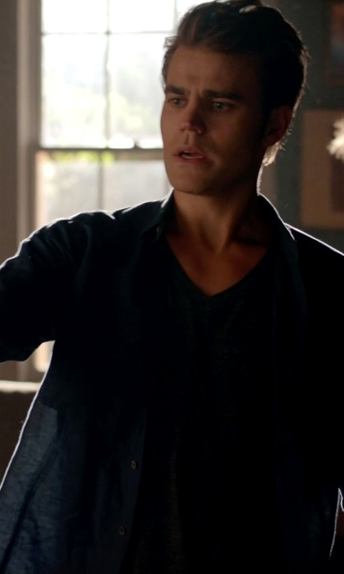 Paul Wesley with Marc By Marc Jacobs Button-Down Shirt in The Vampire Diaries